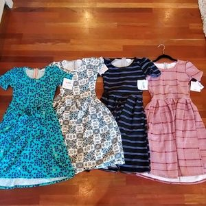 Lot of 4 Amelia dress Lularoe XXS NWT
